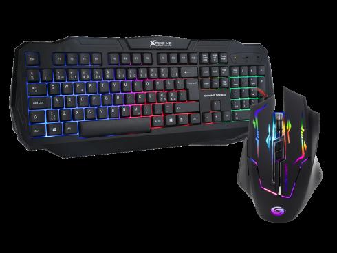 gamer sæt med tastatur og mus