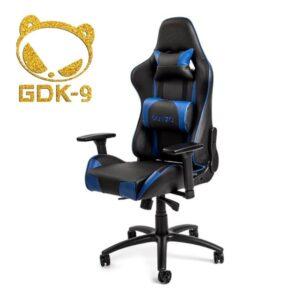 DUTZO Pista V2 - Black / Blue Gamer Stol - Sort - PU Læder - Op til 150 kg