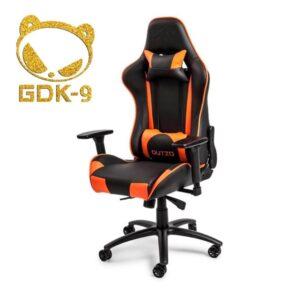 DUTZO Pista V2 - Black / Orange Gamer Stol - Sort / Orange - PU Læder - Op til 150 kg