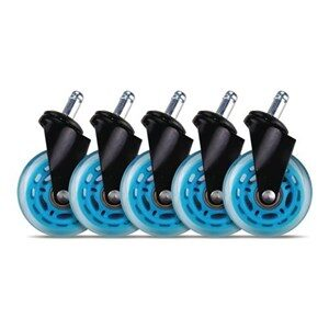 3 Casters for gaming chairs (Blue) Univ., 5 pcs