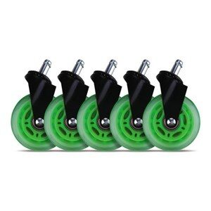 3 Casters for gaming chairs (Green) Univ., 5 pcs