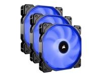 CORSAIR Air Series LED AF120 - Indsats med blæser - 120 mm - blå (pakke med 3)