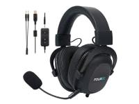 Fourze GH500 Gaming - Headset - fuld størrelse - kabling - USB, 3,5 mm jackstik - støjisolerende - sort