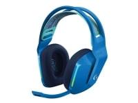 Logitech G G733 LIGHTSPEED Wireless RGB Gaming Headset - Headset - fuld størrelse - 2,4 GHz - trådløs - blå