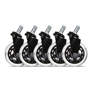 3 Casters for gaming chairs (Black) Univ., 5 pcs