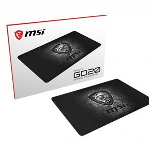 AGILITY GD20 Pro Gaming Mousepad '320mm x 220mm, Pro Gamer ultra-smooth textile surface, Iconic Dragon design, Anti-slip and shock-absorbing rubber base'