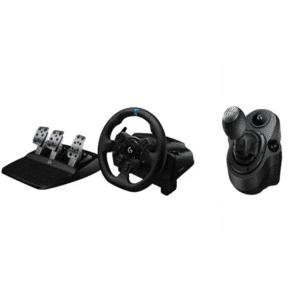 Logitech G923 TRUEFORCE Racing Wheel & Pedals - PS4 & PC - Shifter BUNDLE - Rat & Pedal sæt - PC