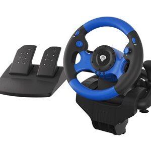 SEABORG 350 Sort, Blå USB Rat + Pedaler Nintendo Switch, PC, PlayStation 4, Playstation 3, Xbox 360, Xbox One