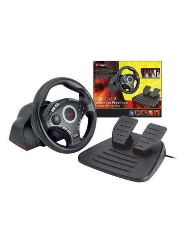 Trust GXT-27 Force Vibration Steering - Rat & Pedal sæt - Sony PlayStation 3