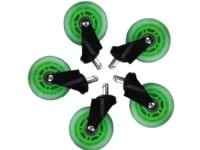 Hjul t/L33T gaming stol grønne bløde 5stk/pak - (5 stk.)