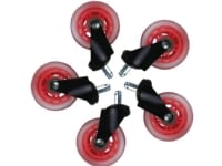 Hjul t/L33T gaming stol røde bløde 5stk/pak - (5 stk.)
