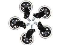 Hjul t/L33T gaming stol sorte bløde 5stk/pak - (5 stk.)